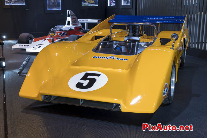 Salon-Retromobile, McLaren M8D Can-Am Orange Papaye