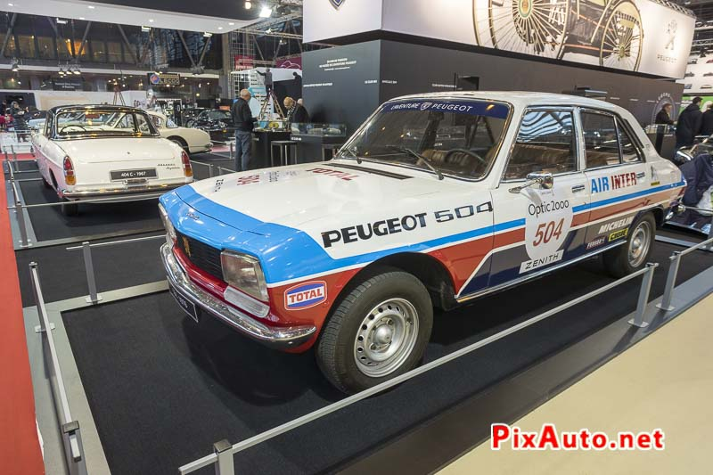 Salon-Retromobile, Peugeot 504 Tour Auto
