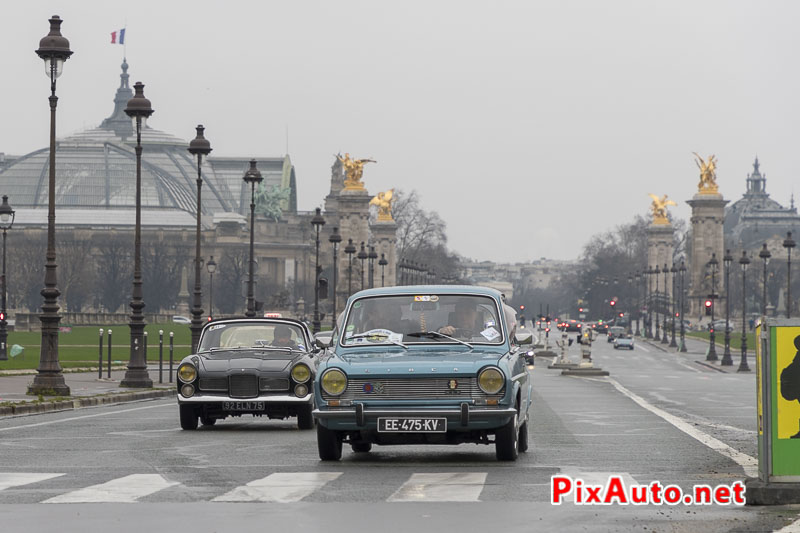 Traversee-de-Paris Hivernale, Simca 1100
