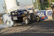 10e European Dragster, Burn Gilles Perruchoud Ford 32