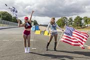 les Flag-girls des runs de US Motor Show 2019