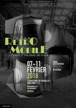 affiche 43e Salon Retromobile 2018