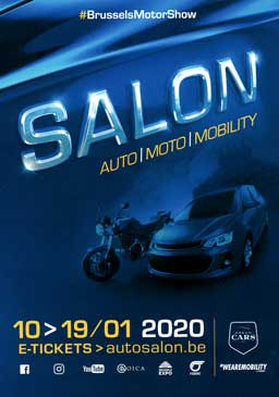 affiche Salon automobile de Bruxelles 2020