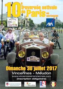 affiche Traversee de Paris Estivale 2017