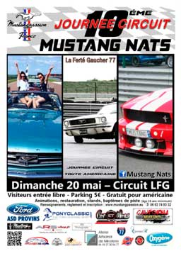 affiche mustang nat's 2018